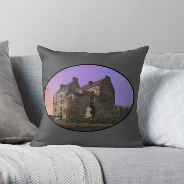 Lallybroch Midhope Castle Spring Throw Pillow
