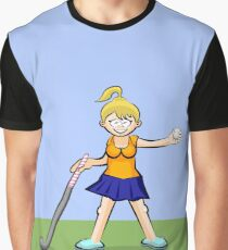 Girl with hockey ball in hand Graphic T-Shirt