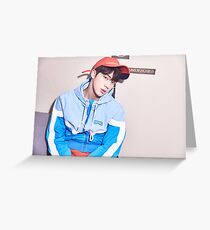 BTS HER JIN Greeting Card