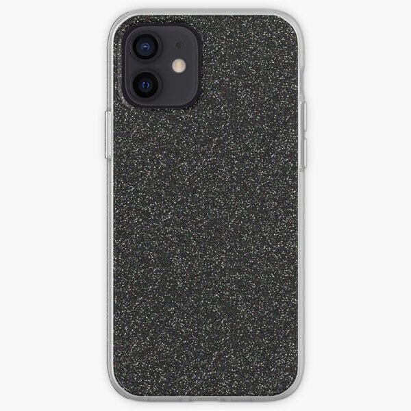 Black, Grey, Concrete, Stone, Glitter, marble, pattern, texture, mint, brown, iphone case iPhone Soft Case