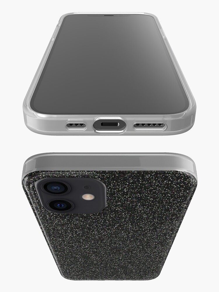 Alternate view of Black, Grey, Concrete, Stone, Glitter, marble, pattern, texture, mint, brown, iphone case iPhone Case & Cover