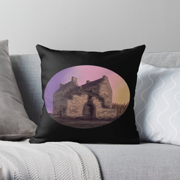 Lallybroch Midhope Castle Autumn Throw Pillow