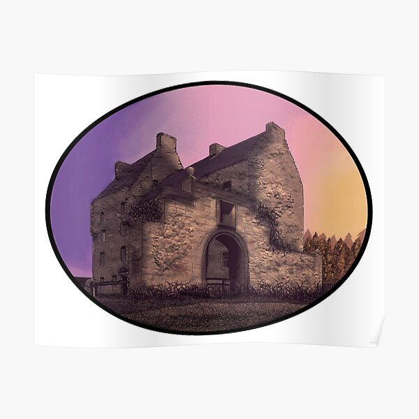 Lallybroch Midhope Castle Autumn Poster