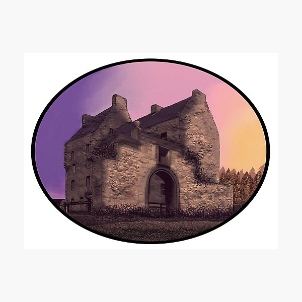 Lallybroch Midhope Castle Autumn Photographic Print