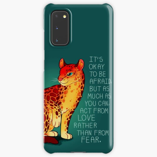 """""""Act From Love Rather Than From Fear"""" Fire Ocelot Samsung Galaxy Snap Case"""