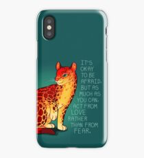 """Act From Love Rather Than From Fear"" Fire Ocelot iPhone Case/Skin"
