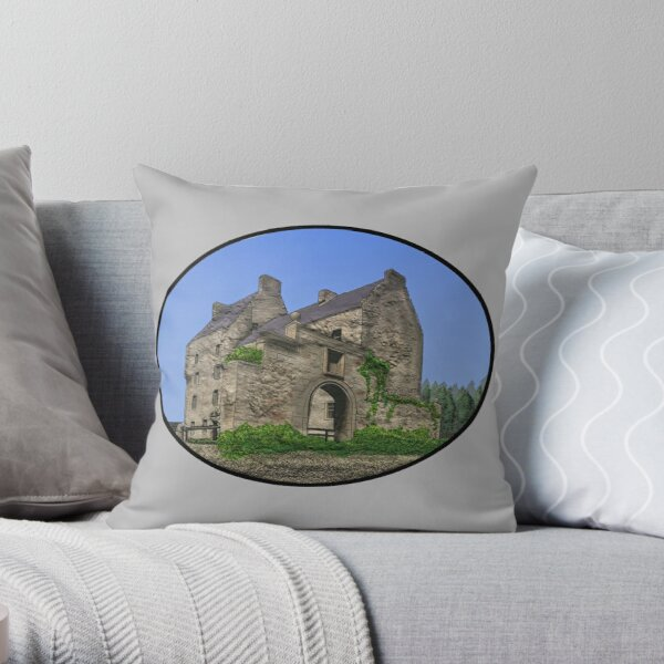 Lallybroch Midhope Castle Summer Throw Pillow