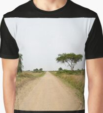 road in the African savanna Graphic T-Shirt