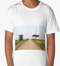road in the African savanna Long T-Shirt