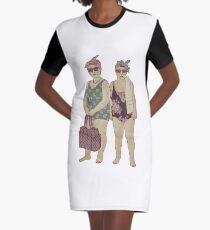 Ladies At The Beach Graphic T-Shirt Dress
