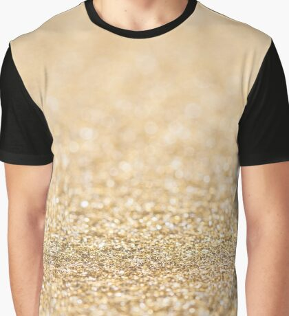 Beautiful champagne gold glitter sparkles Graphic T-Shirt