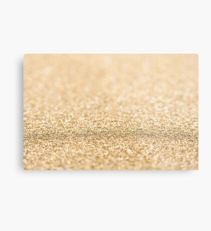 Beautiful champagne gold glitter sparkles Metal Print