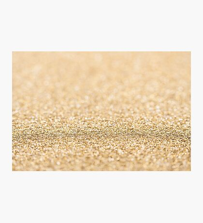 Beautiful champagne gold glitter sparkles Photographic Print