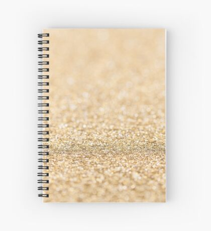 Beautiful champagne gold glitter sparkles Spiral Notebook