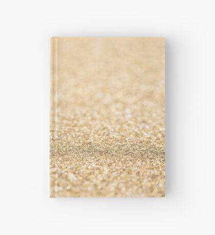 Beautiful champagne gold glitter sparkles Hardcover Journal