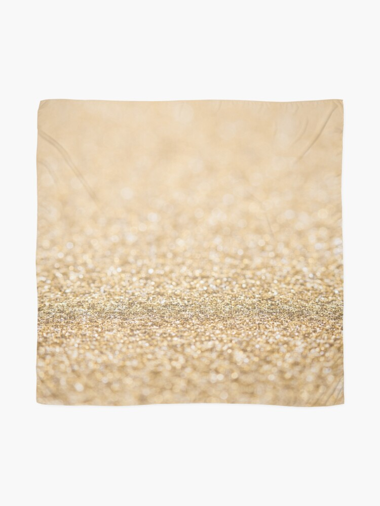 Alternate view of Beautiful champagne gold glitter sparkles Scarf