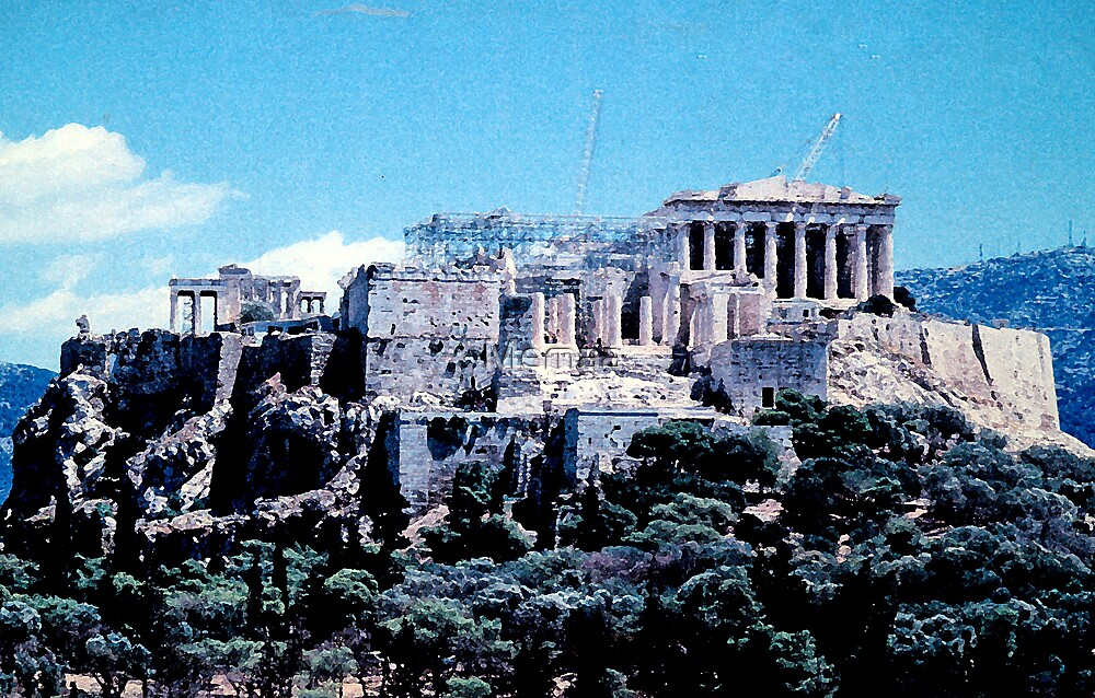 Picture of a Picture - Acropolis by Memaa