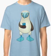 Camiseta clásica Piquero de patas azules con teléfono
