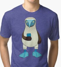 Blue-footed Booby with iPhone Tri-blend T-Shirt