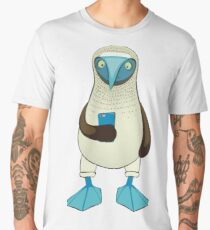 Blue-footed Booby with Phone Men's Premium T-Shirt