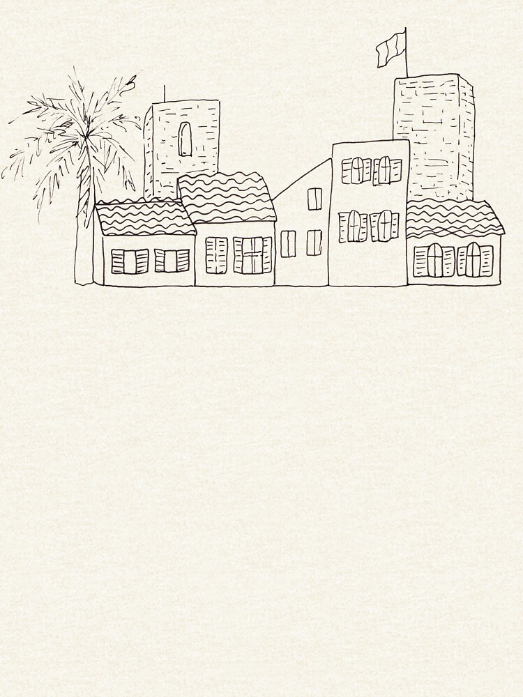 Antibes - Sketch of the old town by mirunasfia