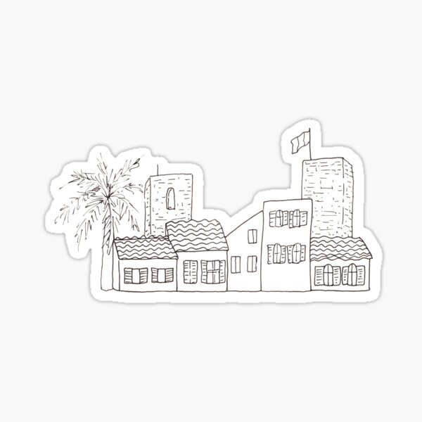 Antibes - Sketch of the old town Sticker