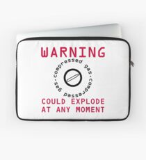 Warning Compressed Gas Could Explode Laptop Sleeve