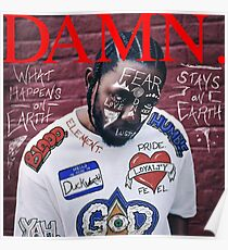 Kendrick Lamar - DAMN. Alternate Album Cover Art Abstract Edit  Poster