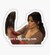 Pegatina Kim Kardashian Rude