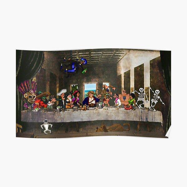 Last Monkey Island Supper - Camisetas Póster