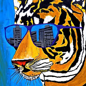 Cool Tiger in Sun Shades  by Overthetopsm