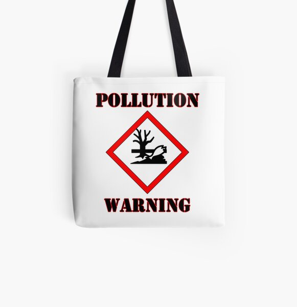 Pollution Warning All Over Print Tote Bag