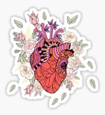 Heart with roses. Sticker