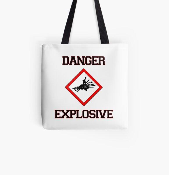 Danger Explosive All Over Print Tote Bag