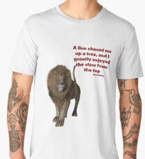 Lion Inspirational Confucius Quote Men's Premium T-Shirt