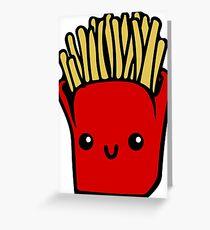 Kawaii Fries  Greeting Card