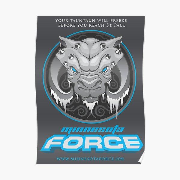 Minnesota Force Logo w/ Text Poster