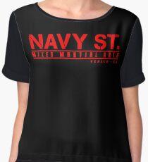 navy street Women's Chiffon Top