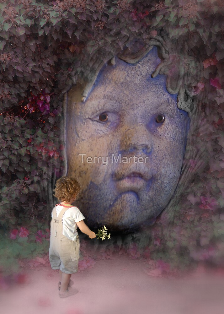 Welcome To My Garden (aka Two Cherubs) by Terry Marter