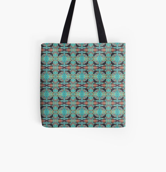 Blackbirds Psychedelic Sky All Over Print Tote Bag