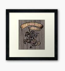 The Bannered Mare Framed Print