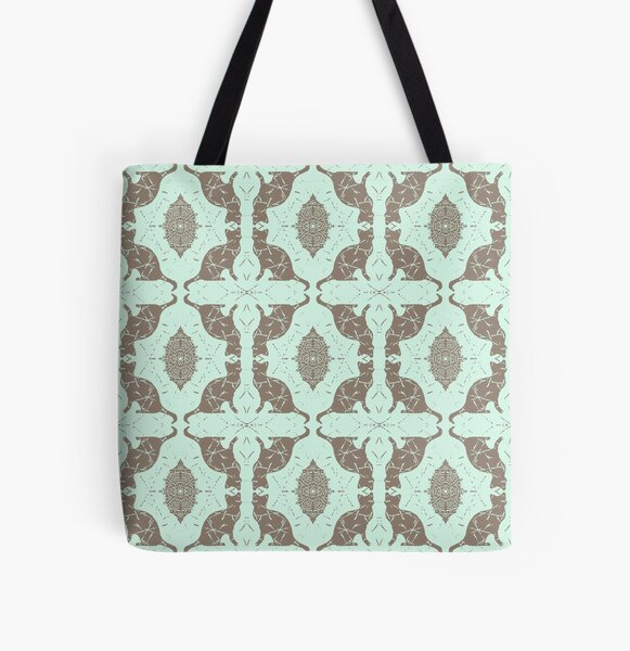 Mint Chocolate Cats All Over Print Tote Bag