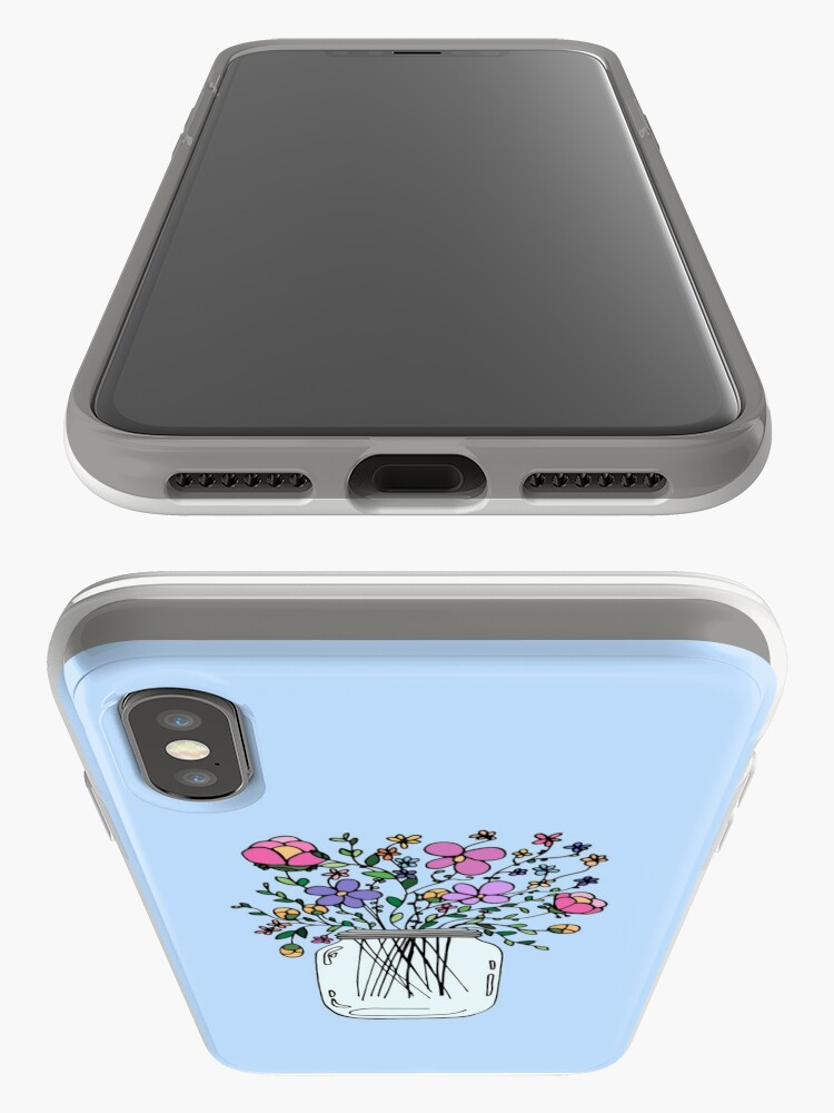 Alternate view of Mason Jar with Flowers iPhone Case & Cover