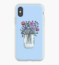 Mason Jar with Flowers iPhone Case