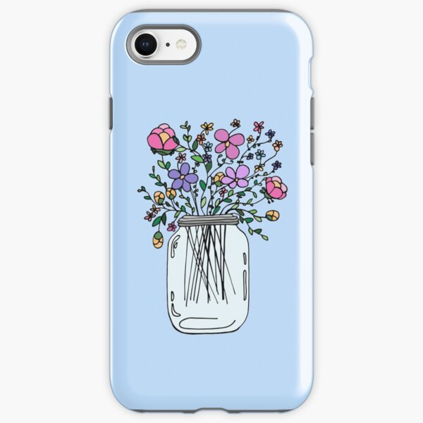 Mason Jar with Flowers iPhone Tough Case