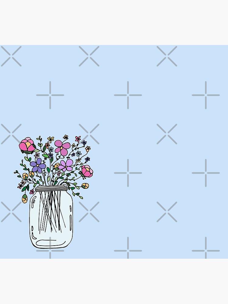 Mason Jar with Flowers by mlleruta