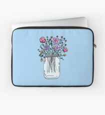 Mason Jar with Flowers Laptop Sleeve