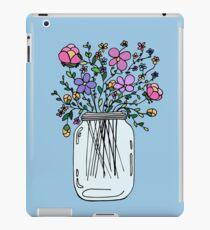 Mason Jar with Flowers iPad Case/Skin
