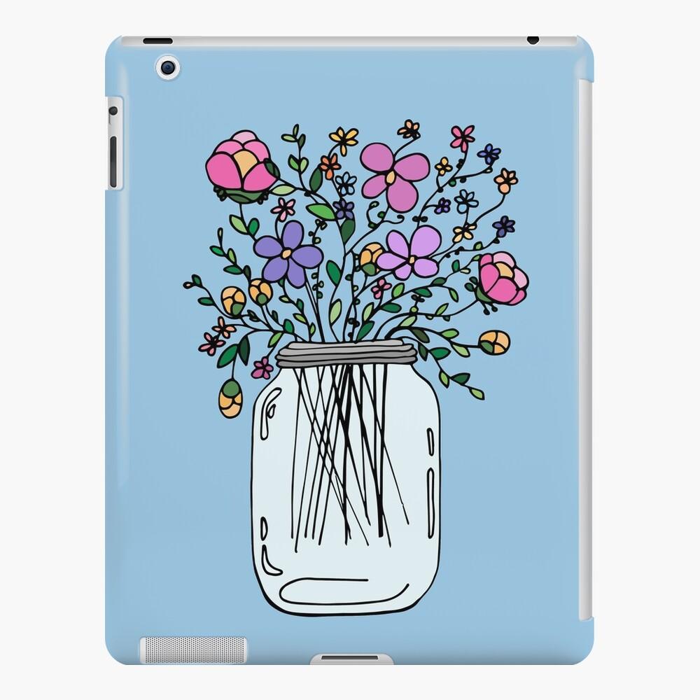 Mason Jar with Flowers iPad Case & Skin