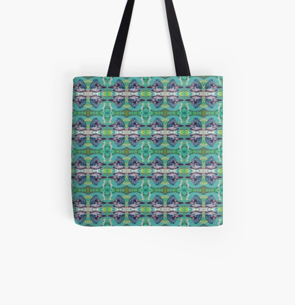 Kingfisher Bird Pattern All Over Print Tote Bag